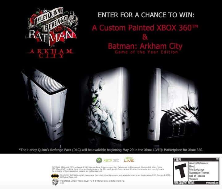 Une chance de remporter une Xbox360 custom Arkham City 1